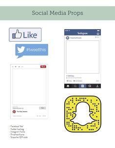 Social media frame props
