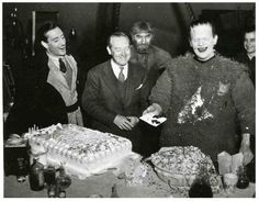 Boris Karloff's Birthday on the set of Son of Frankenstein