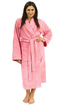 Intimates & Sleep Luxury Bathrobes For Men Women 100% Pure Cotton Hooded Style Terry Towelling Lustrous