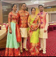 Half Saree Lehenga, Kids Lehenga, Sarees, Kids Indian Wear, Kids Ethnic Wear, Pattu Saree Blouse Designs, Half Saree Designs, Saree Wearing Styles, Simple Lehenga