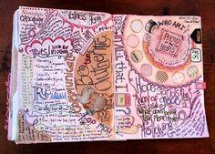 Journal Spread by Paper Relics (Hope W. Karney), via Flickr