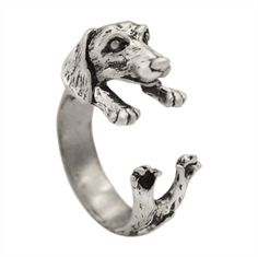 2016 New Fashion Open Adjustable Dog Ring Realistic Dachshund Dog Puppy Animal Rings For Women Girl Gift Men Jewelry     Tag a friend who would love this!     FREE Shipping Worldwide     Buy one here---> http://jewelry-steals.com/products/2016-new-fashion-open-adjustable-dog-ring-realistic-dachshund-dog-puppy-animal-rings-for-women-girl-gift-men-jewelry/    #new_earrings