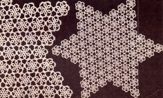 PDF Genuine Vintage Antique Pretty Lacy 'Star Doily' Tatting Pattern Types Of Patterns, Tatting Patterns, Crochet Motif, Crochet Patterns, Collar And Cuff, Vintage Knitting, Floral Style, Star Shape, Home Decor Styles