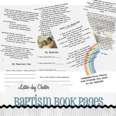 LDS - Baptism Book