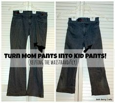 Beth Being Crafty: Boys' Jeans from mom's jeans--reusing the TOP
