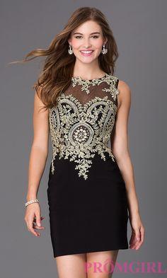 85181825119e Image of short sleeveless lace embellished sheer bodice dress Front Image  Embellished Dress
