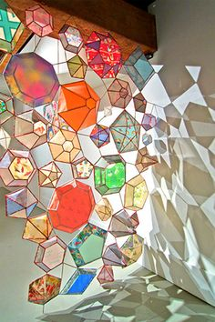 glass colorful diamonds