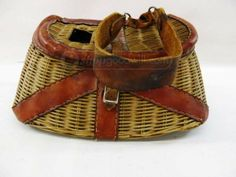 shopgoodwill.com: Antique Fishing Creel Basket
