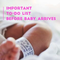 There's a lot to get done before your new baby arrives! Check out this to-do list complied by mom and Hot Topics host @hcat