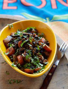 Brazilian Black Bean Stew - Leon Restaurants Vegetarian Dinners, Vegetarian Recipes, Cooking Recipes, Healthy Recipes, Healthy Dinners, Restaurant Recipes, Restaurant Branding, Brazilian Black Beans Recipe