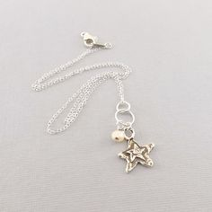 Sterling Silver Double Star With White by CinLynnBoutique on Etsy