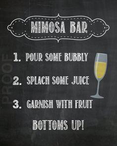 Mimosa Bar Sign | Etsy, $6.50