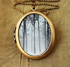 Ink and Snow - Art Locket - Oval Grande Edition