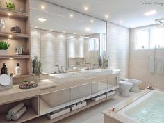 Top 60 Mejores Ideas Dormitorio principal - Home Luxury Bathroom Design Inspiration, Bad Inspiration, Dream Home Design, Home Interior Design, Bad Styling, Bathroom Design Luxury, Dream Bathrooms, Bathroom Styling, Design Case