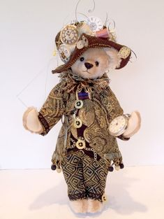 Stitch in Time - One of my Time series bears  - Martha's Bears