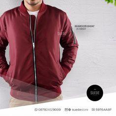 Bomber Maroon / High Quality Myer / Zipper YKK / info & order : whatsapp : 087824829009 / bbm : 5976AA8F / line : suedestore / www.instagram.com/suedestore / www.tokopedia.com/suedestore