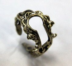 Want it - Ring made out of a Victorian keyhole.
