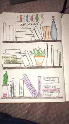 Books to read Bullet Journal layout