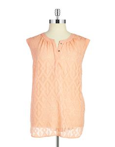 Brands | New Arrivals | Plus Patterned Sleeveless Blouse | Lord and Taylor