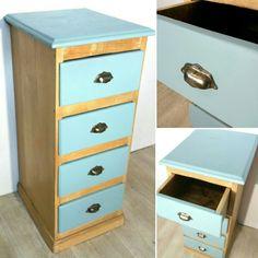 Chiffonier relooké. Relooking meuble  www.bazardanslagrange.com Dresser, Diy, Design, Furniture, Home Decor, Modern, Barn, Powder Room, Decoration Home