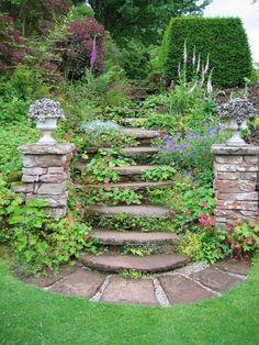 Beautiful Herb Garden Design . Minus the pillars.
