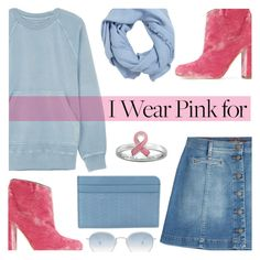"""""""Who Do You Wear Pink For?"""" by rasa-j ❤ liked on Polyvore featuring Burberry, 7 For All Mankind, Stacks and Stones, MANGO, Malone Souliers, Garrett Leight, Zanellato, womensFashion and breastcancerawareness"""