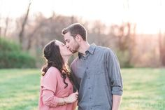 Engagement Kiss | Springtime in Southeastern PA | Ash Mill Farm Bed and Breakfast Engagement