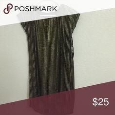 Black metallic tunic/mini dress Black and gold mini dress or tunic. Dresses High Low