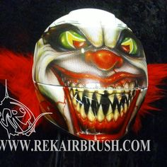 Rekairbrush Custom Airbrushed Motorcycle Helmet 597