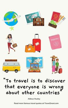 """100 Travel Quotes – Inspiring The Journey. """"To travel is to discover that everyone is wrong about other countries"""" Aldous Huxley. #travelquotes #travel #journey #inspiringquotes India Travel, Japan Travel, Air Travel, Travel Pics, Canada Travel, Ski Canada, Atlantic Canada, Journey Quotes, Newfoundland And Labrador"""