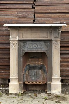 Cast iron fire surround Retrouvius Reclamation and Design