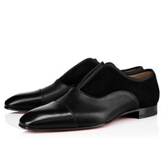 ALPHA MALE Black Calfskin - Men Shoes - Christian Louboutin Christian Louboutin, Red Sole, Alpha Male, Formal Shoes, Groomsmen, Wedding Shoes, Chelsea Boots, Men's Shoes, Slip On
