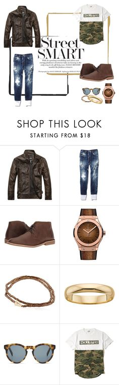 """Unbenannt #20"" by to-mars on Polyvore featuring Dsquared2, Nunn Bush, Luis Morais, DICK MOBY, Hollister Co., men's fashion und menswear"