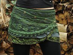 Yara Rock (grün)-Festival Clothing Gypsy Boho Rock Hippie Lace Crochet Midi Knee Goa Ethnic Nomadic Boho - Bohemian Home Style Bohemian Skirt, Gypsy Skirt, Bohemian Mode, Boho Skirts, Bohemian Gypsy, Boho Chic, Gypsy Style, Festival Outfits, Carnival