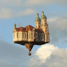Floating balloon castle?|