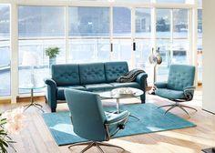Collectie Prima-Lux en Idee+: Zalig Stressless salon met Ergo adapt systeem voor het ultieme zitcomfort.