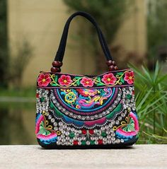 baf7c2b274c414 [Visit to Buy] Price-promotion Women' handbag!New nice Embroidered Lady bags  national trend handbag embroidered embroidery Lady carry bag