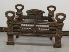 Cast Iron Log Basket South Hampton, Fireplace Tools, Architectural Antiques, Building Materials, New Construction, The Hamptons, New England, Cast Iron, Restoration
