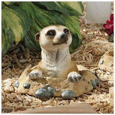 Kalahari Meerkat Statue: Out of Hole - Design Toscano U$19.95