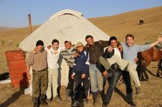 Alex and Marko join a nomads' yurt party in the mountains of Kazakhstan