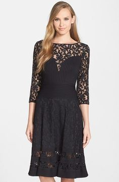 Tadashi Shoji Lace Fit & Flare Dress available at #Nordstrom