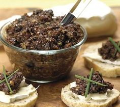 Thrifty Foods - Recipe - Fig and Olive Tapenade More