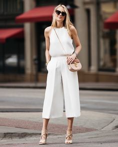 Today on Fashion Jackson! Dressing up this white tank (I wore in black last week) with my go-to culottes! The tank is only $68 and definitely a summer staple! // Shop this pic via screenshot with the new LIKEtoKNOW.it app @liketoknow.it http://liketk.it/2rtIT #liketkit