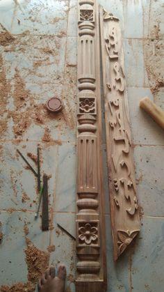 House Outer Design, Duplex House Design, House Front Design, Wood Entry Doors, Wooden Doors, Wooden Main Door Design, Bedroom Cupboard Designs, Wood Carving Designs, Wooden Door Hangers