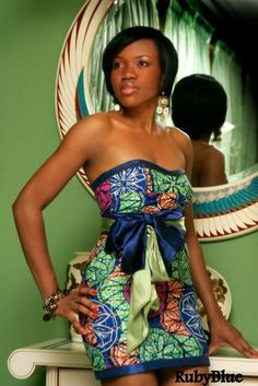 Cute and sassy Ankara style - longer skirt ~African Prints, African women dresses, African fashion styles, african clothing African Inspired Fashion, African Print Fashion, Africa Fashion, African Prints, Tribal Fashion, African Dresses For Women, African Wear, African Women, African Style