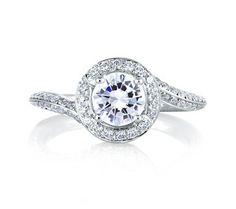 Signature Spiral Halo Engagement Ring