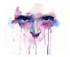 Stunning paintings  by Silvia Pelissero, an Italian artist best known as agnes-cecile. A nice splash of color in the heart.