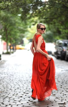 Everyone looks good in red and I love a backless dress. Atlantic-Pacific