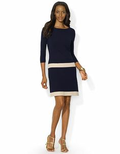 LAUREN RALPH LAUREN Drop Waist Sweater Dress - NAVY -http://1tagdeals.com/fashion/shop/lauren-ralph-lauren-drop-waist-sweater-dress-navy-x-large/