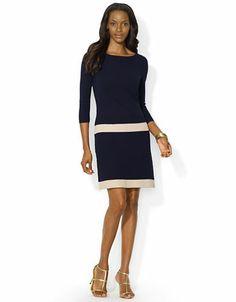 LAUREN RALPH LAUREN Drop Waist Sweater Dress - NAVY -http://1tagdeals.com/fashion/shop/lauren-ralph-lauren-drop-waist-sweater-dress-navy-x-large/
